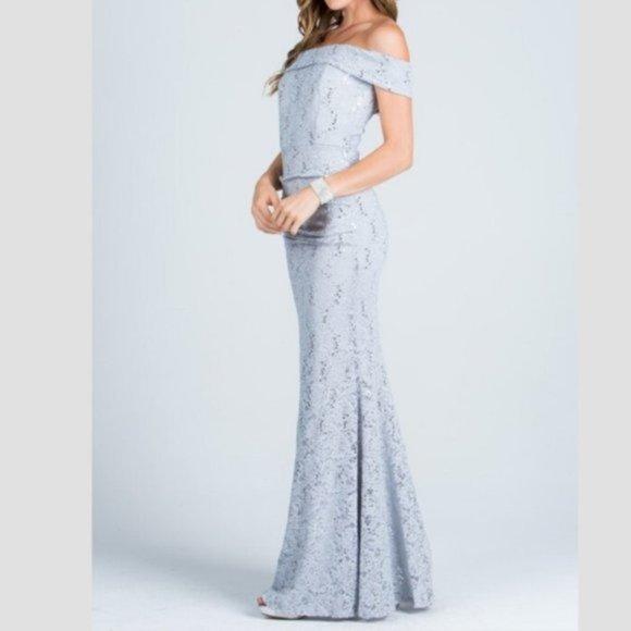 La Scala Dresses & Skirts - Off Shoulder Sequin lace Bodycon Gown
